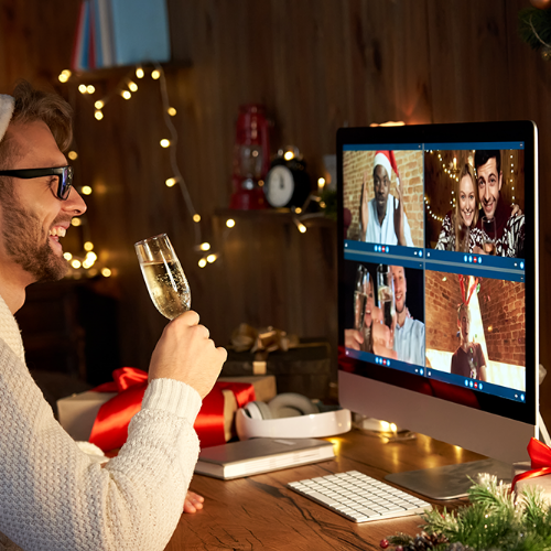 Image about Virtual office Christmas party ideas