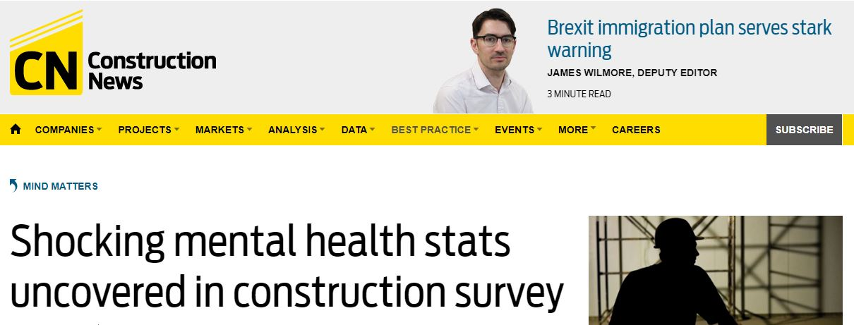 Construction News Mental Health Construction