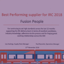 Image about Fusion People recognised by Capita Supplier Awards