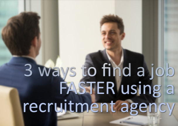 Image about Three ways to find a job faster using a recruitment agency